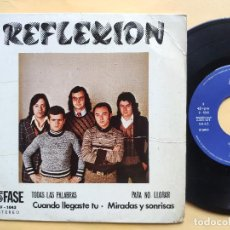 Disques de vinyle: REFLEXION - EP SPAIN PS - TODAS LAS PALABRAS / PARA NO LLORAR + 2 * AUDIO VIDEO LABEL. Lote 198489453