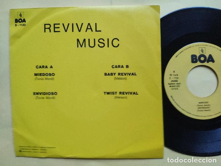 REVIVAL MUSIC - EP SPAIN PS - MINT * AUDIO VIDEO LABEL * REVIVAL MUSIC * MIEDOSO / ENVIDIOSO / BABY (Música - Discos de Vinilo - EPs - Grupos Españoles de los 70 y 80)