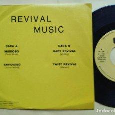 Discos de vinilo: REVIVAL MUSIC - EP SPAIN PS - MINT * AUDIO VIDEO LABEL * REVIVAL MUSIC * MIEDOSO / ENVIDIOSO / BABY. Lote 198490012