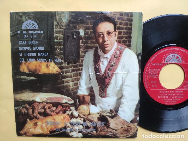 LOS RISCOS - EP SPAIN PS * VG++ * PROMO * CASA DUQUE / SEGOVIA MAMBO / EL DESTINO MANDA + 1 (Música - Discos de Vinilo - EPs - Grupos Españoles de los 70 y 80)