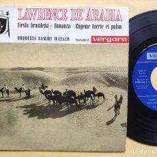 Discos de vinilo: ORQUESTA SAMMY WALKER - EP SPAIN PS - LAWRENCE DE ARABIA / FIESTA BRASILEÑA / BONANZA + 1. Lote 198491933