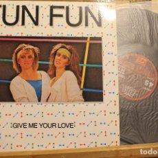 Discos de vinilo: FUN FUN - GIVE ME YOUR LOVE / 1985 CFE ENERGY / MAXI SINGLE PROMOCIONAL . Lote 198493850