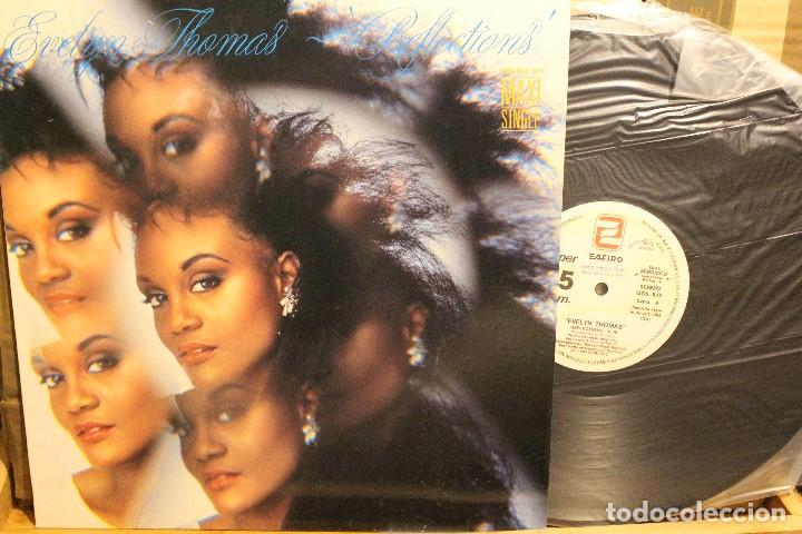 EVELYN THOMAS REFLECTIONS / 1985 ZAFIRO SERDISCO / MAXI SINGLE PROMOCIONAL (Música - Discos de Vinilo - Maxi Singles - Jazz, Jazz-Rock, Blues y R&B)