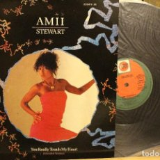 Discos de vinilo: AMII STEWART YOU REALLY TOUCH MY HEART / 1985 ZAFIRO SERDISCO / MAXI SINGLE PROMOCIONAL. Lote 198494307