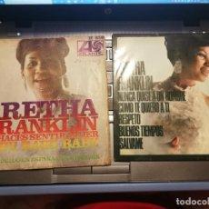 Discos de vinilo: 2 SINGLES ARETHA FRANKLINME HACES SENITR MUJER Y NUNCA QUISE A UN HOMBRE COMO TE QUIERO A TI 1967. Lote 198503746