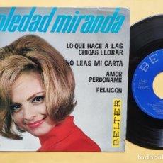 Discos de vinilo: SOLEDAD MIRANDA - EP SPAIN PS - MINT * PELUCON * TOP YE YE * BELTER 1964. Lote 198504537