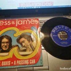 Discos de vinilo: JESS & JAMES - MRS. DAVIS - A PASSING CAR - SG SPAIN 1969. Lote 198508147