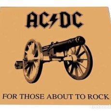 Discos de vinilo: V650 - AC/DC. FOR THOSE ABOUT TO ROCK... LP VINILO NUEVO PRECINTADO. Lote 198515138