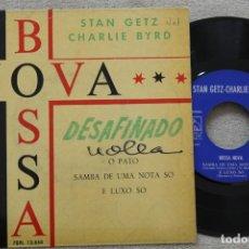 Discos de vinilo: BOSSA NOVA STAN GETS CHARLIE BYRD EP VINYL MADE IN SPAIN 1962. Lote 198519017