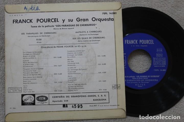 Discos de vinilo: FRANCK POURCEL Y SU GRAN ORQUESTA LES PARAPLUIS DE CGERBOURG EP VINYL MADE IN SPAIN 1964 - Foto 2 - 198521657