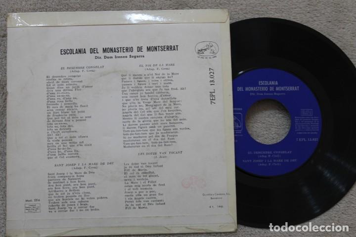 Discos de vinilo: ESCOLANIA DEL MONASTERIO DE MONTSERRAT IRENEO SEGARRA EP VINYL MADE IN SPAIN - Foto 2 - 198522937