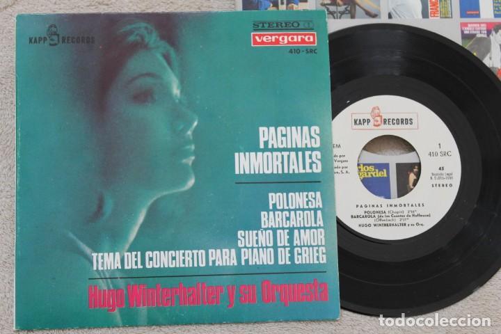HUGO WINTERHALTER Y SU ORQUESTA PAGINAS INMORTALES EP VINYL MADE IN SPAIN 1966 (Música - Discos de Vinilo - EPs - Orquestas)