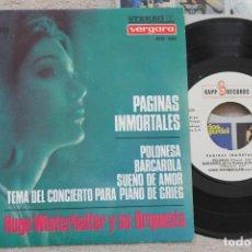 Discos de vinilo: HUGO WINTERHALTER Y SU ORQUESTA PAGINAS INMORTALES EP VINYL MADE IN SPAIN 1966. Lote 198524136