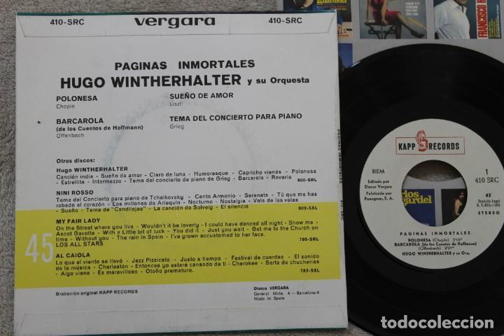 Discos de vinilo: HUGO WINTERHALTER Y SU ORQUESTA PAGINAS INMORTALES EP VINYL MADE IN SPAIN 1966 - Foto 2 - 198524136