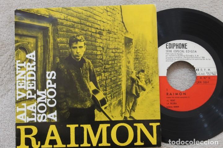 RAIMON AL VENT EP VINYL MADE IN SPAIN 1963 (Música - Discos - Singles Vinilo - Solistas Españoles de los 50 y 60)