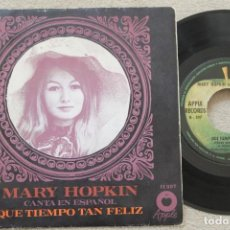 Discos de vinilo: MARY HOPKIN QUE TIEMPO TAN FELIZ SINGLE VINYL MADE IN SPAIN 1968. Lote 198525112