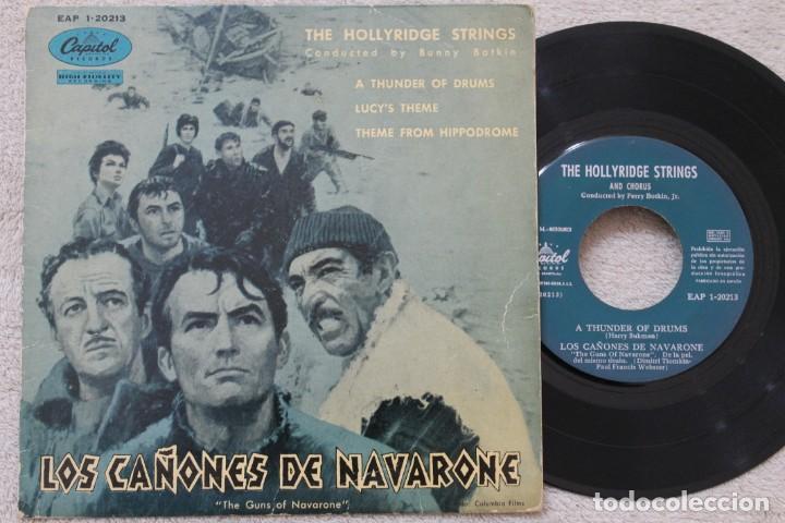 LOS CAÑONES DE NAVARONE BSO EP VINYL MADE IN SPAIN 1961 (Música - Discos de Vinilo - EPs - Bandas Sonoras y Actores)