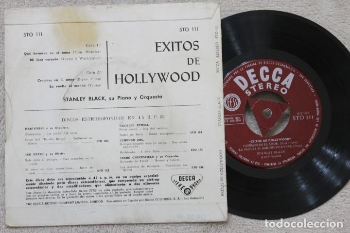 Discos de vinilo: STANLEY BLACK EXITOS DE HOLLYWOOD EP VINYL MADE IN SPAIN 1959 - Foto 2 - 198530178