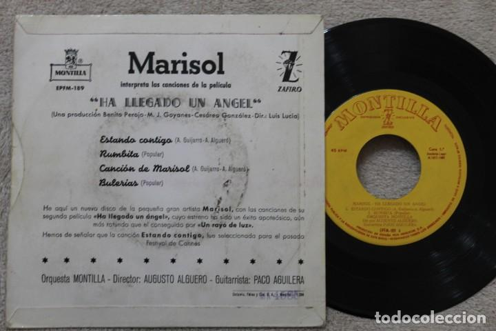 Discos de vinilo: MARISOL BSO HA LLEGADO UN ANGEL EP VINYL MADE IN SPAIN 1961 - Foto 2 - 198531005