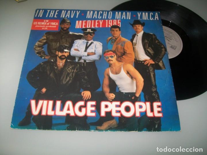VILLAGE PEOPLE - YMCA US REMIX DE U.K + MEDLEY ESPACIAL 1985 ..MAXISINGLE - RECORD SHAC (Música - Discos de Vinilo - Maxi Singles - Pop - Rock - New Wave Extranjero de los 80)