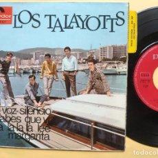 Discos de vinilo: LOS TALAYATTOS - EP SPAIN PS - EX * SHA LA LA LA LEE ( SMALL FACES COVER ) LA VOZ DEL SILENCIO + 2. Lote 198532022