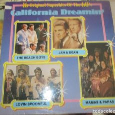 Discos de vinilo: CALIFORNIA DREAMIN - BEACH BOYS - MAMAS PAPAS - JAN AND DEAN - LOVIN SPOONFUL. Lote 198533631
