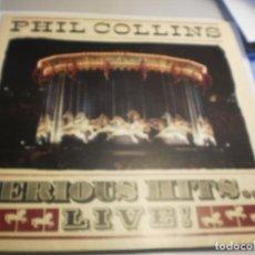 Discos de vinilo: LP DOBLE PHIL COLLINS (GÉNESIS) SERIOUS HITS LIVE! WEA 1990 GERMANY CARPETA DOBLE (PROBADOS Y BIEN). Lote 198548171