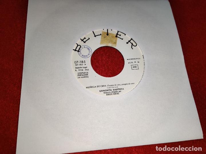 CONCHITA BAUTISTA MUÑECA DE CERA/YO TE AME 7'' SINGLE 1965 BELTER PROMO (Música - Discos - Singles Vinilo - Solistas Españoles de los 50 y 60)