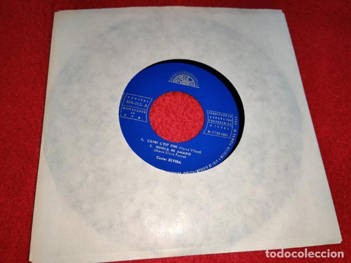 ELVIRA SOÑE/CAPRI C'EST FINI/NUNCA HE AMADO/EL COCHECITO EP 1965 BERTA PROMO SOLO DISCO EX (Música - Discos - Singles Vinilo - Solistas Españoles de los 50 y 60)