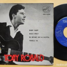 Discos de vinilo: TONY RONALD - EP SPAIN PS - EX * RUBY BABY / ROLY POLY / EL RITMO DE LA LLUVIA / VENGA YA . Lote 198553910