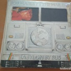 Discos de vinilo: BOB MARLEY & THE WAILERS BABYLON BUS 2XLPS SPAIN INSERTOS 1978. Lote 198555218