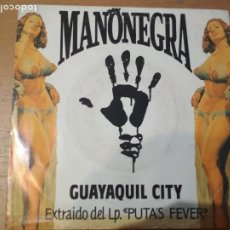 Discos de vinilo: MANO NEGRA GUAYAQUIL CITY SINGLE SPAIN PROMOCIONAL. Lote 198556938