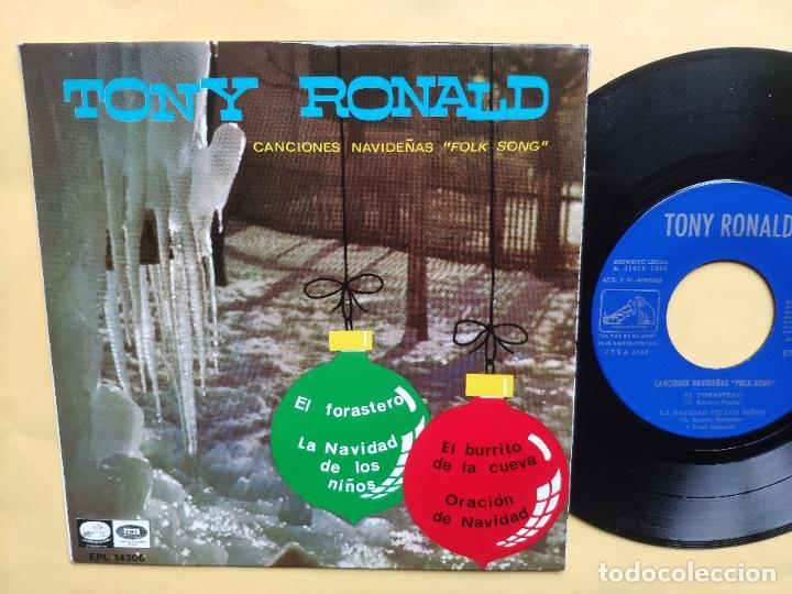 Discos de vinilo: TONY RONALD - EP Spain PS - MINT * CANCIONES NAVIDEÑAS FOLK SONG * EL FORASTERO + 3 - Foto 2 - 198556963