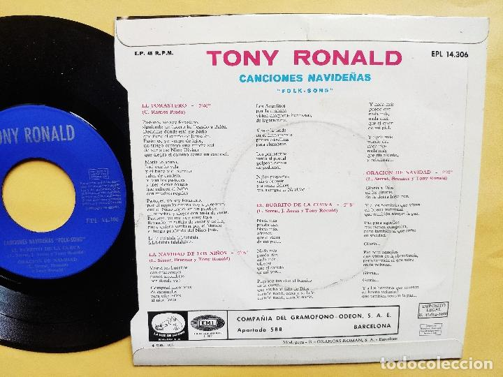 Discos de vinilo: TONY RONALD - EP Spain PS - MINT * CANCIONES NAVIDEÑAS FOLK SONG * EL FORASTERO + 3 - Foto 3 - 198556963