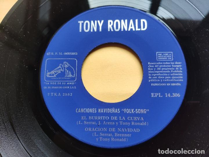 Discos de vinilo: TONY RONALD - EP Spain PS - MINT * CANCIONES NAVIDEÑAS FOLK SONG * EL FORASTERO + 3 - Foto 5 - 198556963