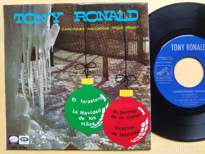 Discos de vinilo: TONY RONALD - EP Spain PS - MINT * CANCIONES NAVIDEÑAS FOLK SONG * EL FORASTERO + 3 - Foto 1 - 198556963