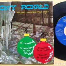 Discos de vinilo: TONY RONALD - EP SPAIN PS - MINT * CANCIONES NAVIDEÑAS FOLK SONG * EL FORASTERO + 3. Lote 198556963