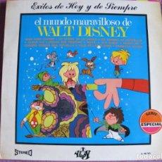 Discos de vinilo: LP - EL MUNDO MARAVILLOSO DE WALT DISNEY - ORQUESTA 101 STRINGS (SPAIN, DISCOS YUPY 1971). Lote 198558330