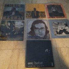 Discos de vinilo: ENRIC BARBAT- LOTE DE SIETE DISCOS 45 RPM-CUATRO EP. Y TRES SINGLES- CATALA SETZE JUTGES-. Lote 198558572