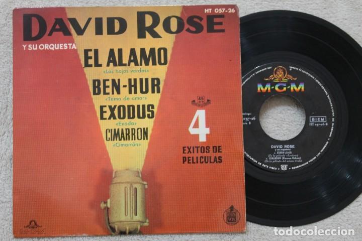DAVID ROSE Y SU ORQUESTA 4 EXITOS DE PELICULAS EP VINYL MADE IN SPAIN 1961 (Música - Discos de Vinilo - EPs - Orquestas)