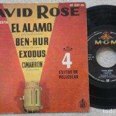 Discos de vinilo: DAVID ROSE Y SU ORQUESTA 4 EXITOS DE PELICULAS EP VINYL MADE IN SPAIN 1961. Lote 198559941