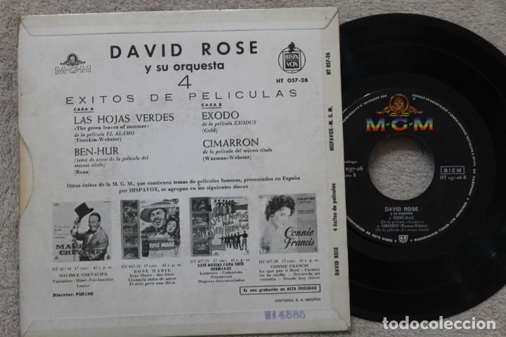 Discos de vinilo: DAVID ROSE Y SU ORQUESTA 4 EXITOS DE PELICULAS EP VINYL MADE IN SPAIN 1961 - Foto 2 - 198559941