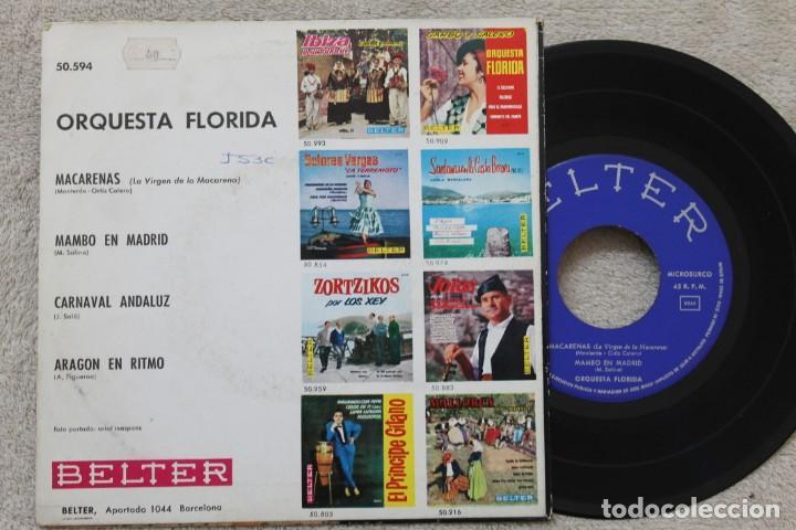 Discos de vinilo: ORQUESTA FLORIDA MACARENAS EP VINYL MADE IN SPAIN 1962 - Foto 2 - 198561666
