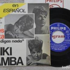 Discos de vinilo: NIKI CAMBA MI LES TIPOTA NO DIGAS NADA EP VINYL MADE IN SPAIN 1965. Lote 198561950