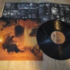Discos de vinilo: URTZ. EKAITZAREN GARRASIA. GOR G-508 LP 1992 -PAMPLONA-IRUÑEA-ROCK VASCO-EXCELENTE. Lote 198562910