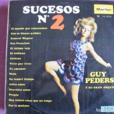 Discos de vinilo: LP - SUCESOS Nº 2 - GUY PEDERSEN Y SU ORQUESTA (SPAIN, MUSIDISC 1967). Lote 198563605