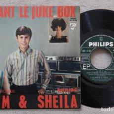 Discos de vinilo: AKIM & SHEILA DEVANT LE JUKE BOX EP VINYL MADE IN FRANCE. Lote 198564053