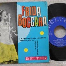 Discos de vinilo: FRIDA BOCCARA LA CASA DEL SOL NACIENTE EP VINYL MADE IN SPAIN 1965. Lote 198564327