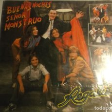Discos de vinilo: REGALIZ-BUENAS NOCHES SEÑOR MONSTRUO-CONTIENE ENCARTE. Lote 198566786