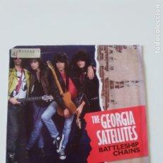 Discos de vinilo: GEORGIA SATELLITES BATTLESHIP CHAINS / GOLDEN LIGHT ( 1986 ELEKTRA USA ). Lote 198571453